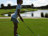 Una golfista de lo más zorra