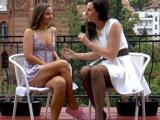 La entrevista termina con sexo lésbico - Video de Lesbianas
