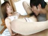 Asiática de coño peludo follando con su novio