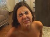 Mamada y corrida facial a una novia muy caliente