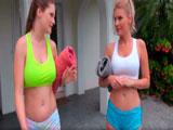 Footing y un poco de sexo lésbico - Video de Lesbianas