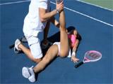 Veinteañera se folla a su entrenador de tenis