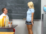 La animadora y el profesor de gimnasia