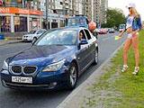 Se liga a una putita con su nuevo BMW