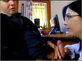 El banquero y la secretaria guarra