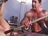 Rubia putisima follada duro y penetrada con palos
